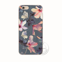 Hibiscus Flower iPhone 7 and iPhone 7 Plus Case - Unique Fashion Floral Design with Slim Fit
