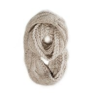 AEO Chunky Cable Knit Loop Scarf   American Eagle Outfitters