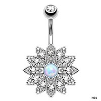 ac DCCKO2Q Holy Lotus Navel Piercing Belly Button Rings Industrial Piercing