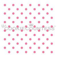 Small Polka Dots Cake & Cookie Stencil