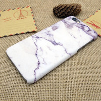 Vintage Purple White Marble Stone iPhone 5se 5s 6 6s Plus Case Cover + Nice Gift Box 272