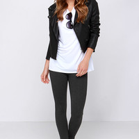 Fit Up the Stakes Charcoal Grey Leggings