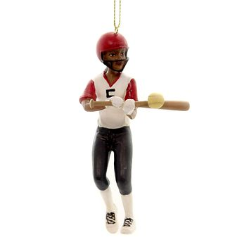 Holiday Ornaments GIRL SPORT ORNAMENT Polyresin Athlete Ball 164702 Softball