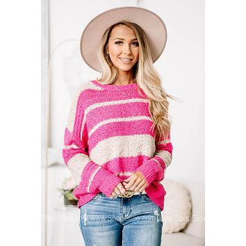 Clear Your Mind Striped Lightweight Sweater Top