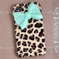 Bow Iphone 4 case Iphone 4S case Leopard Iphone 4 by TheArtCity