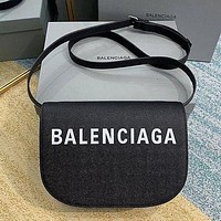 Balenciaga simple printed letters women's shoulder bag