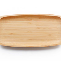 bamboo appetizer tray