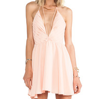 keepsake Riptide Dress in Peach
