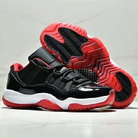 NIKE Air Jordan 11 AJ11 Fashion New Sports Leisure Running Women Men Shoes Black
