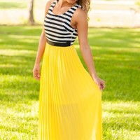 On The Bright Path Maxi Dress - Yellow - NEW ARRIVALS