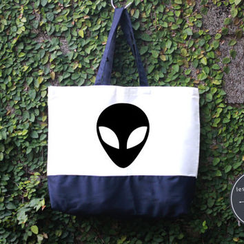 Alien Tote Bag, Handmade Bag, Harry potter Tote Bag, 100% cotton canvas, Canvas tote