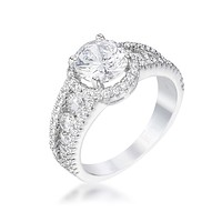 Alexia 1ct Round Solitaire Engagement Halo Ring | 2.8ct