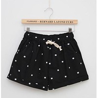 Hot Shorts Free Shipping Hot Sale Female Dot Printed  Casual High Elastic Waist Draw String Loose  With Pocket C212AT_43_3