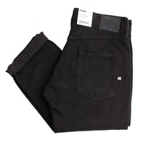 ED-55 Relaxed Tapered Jeans in Onyx Black Overdyed by Edwin