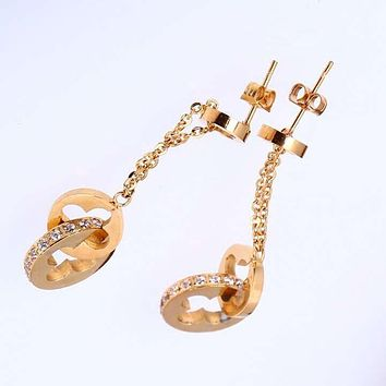 8DESS Louis Vuitton LV Women Fashion Chic Accessories Fine Jewelry Earrings