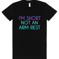 I'm Short Not an Arm Rest-Female Black T-Shirt
