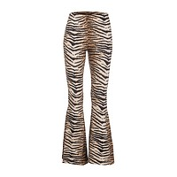 Wild Life Tiger Animal Print Flared Bell Bottom Pants