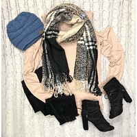Play Along Black Multi Scarf