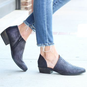 Not Rated: Black Jasper Open Side Bootie