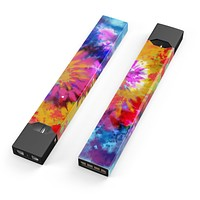 Spiral Tie Dye V8 - Premium Decal Protective Skin-Wrap Sticker compatible with the Juul Labs vaping device