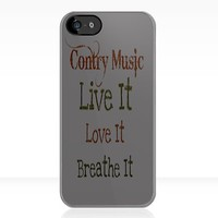 Country Music: Live It, Love It, Breathe It - Iphone Case  by sullat04