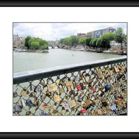 Paris Love Locks, Paris Photography, Pont des Arts Bridge, Paris Decor, Romantic Wall Art, Living Room Art, 8 x 10 Print, Travel Photo