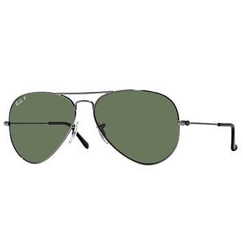 Ray-Ban Gold Aviators with Green Lenses