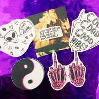Chill vibes stickers (set of 5)