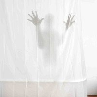 Wanted Scary Shower Curtain