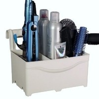 STYLEAWAY - IVORY WHITE; Organizer/Hanger for Blow Dryer, Curling Iron, Flat Iron, Hair Styling Products