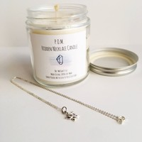 Forest Walk - Hidden Necklace Soy Wax All Natural Hand Poured Candle - 4 oz