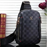 LV Louis Vuitton Woman Men Fashion Leather Crossbody Single Shoulder Bag