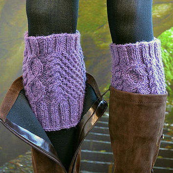 Hand knit leg warmers,boot cuff,winter Accessories ,unique gifts ,women clothing