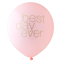 Best Day Ever Balloon - Blush and Gold