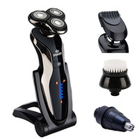 J-DEAL® Systemic Waterproof Electric Rechargeable Shaver Razor Wet/Dry for Men + Replaceable Kit (002)