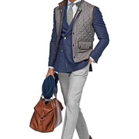 Grey Quilted Vest Bw010 | Suitsupply Online Store