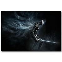 Dark Souls 1 2 3 Poster Necromancer Armor Sword Art Silk Fabric Print 13x20 24x36inch Hot Game Pictures for Room Wall Decoration