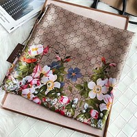 GUCCI New fashion floral more letter print scarf women