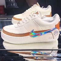 Nike Air Force 1 AF1 Flat Shoes Sports Sneakers Board shoes Laser hook