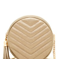 Eliza Quilted Circle Crossbody