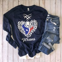 Navy Falling in love with Texans long sleeve