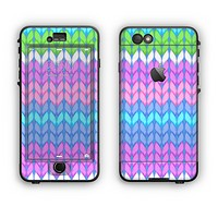 The Bright-Colored Knit Pattern Apple iPhone 6 Plus LifeProof Nuud Case Skin Set