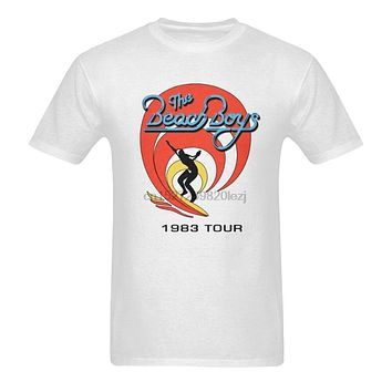 Limited Edition!!! The Beach Boys Tour 1983 Vintage T Shirt Loose Size Top Tee Shirt|T-Shirts