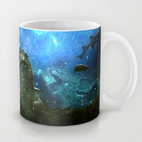 The Great White Marine Lava Lamp Mug by Distortion Art