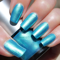 Pacific Ocean Franken Nail Polish - Turquoise blue color with green reflections