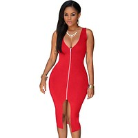 S-4XL 2017 Sexy Dress Club Plus Size Women Party Dresses Bodycon Sundress Package Hip Blue Red White Black Midi Summer Dress