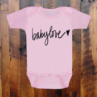 babylove.heart.love. baby clothing.Baby Shower gift. baby announcement. Grandmother.Mommy. Aunt.Daddy. Baby Onezee. creeper, bodysuit.