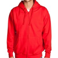 Red Zip Up Hoodie Sweatshirt