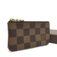100% Authentic Louis Vuitton Damier Pochette Cles Wallet Coin Purse / 3pBXX