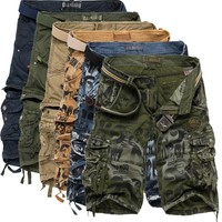 Training Pants Summer Plus Size Casual Camouflage With Pocket Shorts [10241475971]